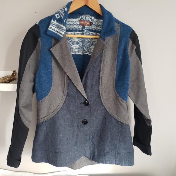 Preloved Jackets & Blazers - 🇨🇦 Preloved Upcycled Wool Blazer Jacket Grey M